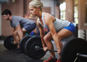 "GettyImages 500671554 300x217 Myth: Weightlifting Makes Women Look ""Manly"""